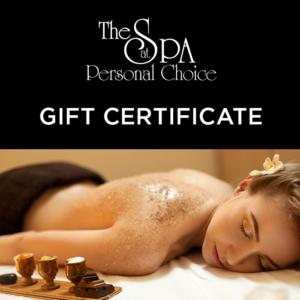 spa gift certificate in eureka ca