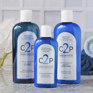 non comedogenic shampoo, conditioner and face scrub for acne prone skin