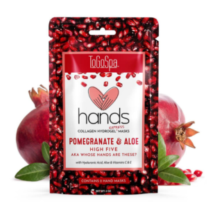 pomegranate and collagen hand masks