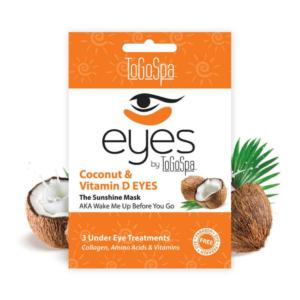 coconut and vitamin d brightening under eye masks