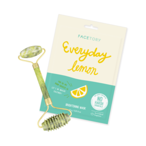 double sided jade roller and sheet mask bundle