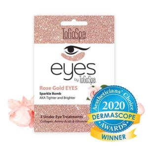 rose gold under eye masks for tightening and brightening