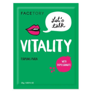 firming sheet mask with pomegranate